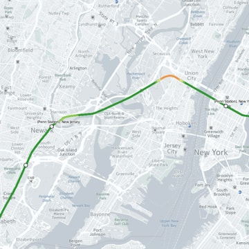 Map Shows Curviest Stretches of Amtraks NortheastCorridor