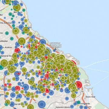 Mapping the monetary contributions to Argentinian Elections