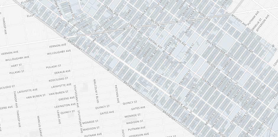 Northwest Bushwick Community Map