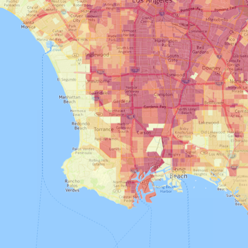 Los Angeles Times Pollution Map