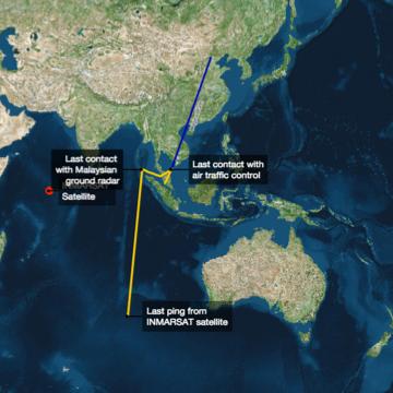 Malaysia Flight MH370 on aMap