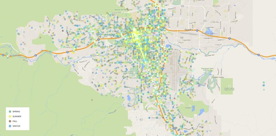 Reno Crash Map