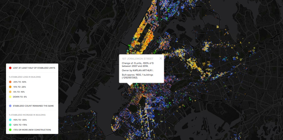 NYC Rent Stabilization Map