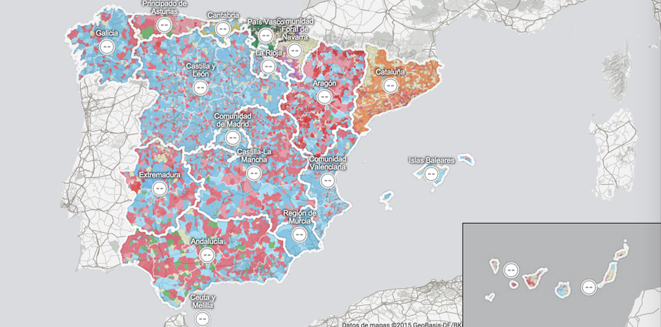 Election Map 2011 Spanish Elections