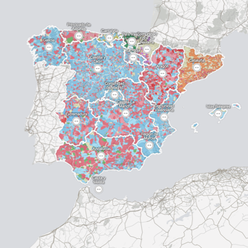Election Map: 2011 SpanishElections