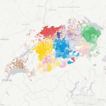 Carto Maps Swiss Football Fan Strongholds