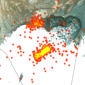 Seismic Activity of a Volcano Captured in Iceland